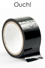 Ruban de bondage 20 m - noir : ruban de bondage noir (20 m), non collant, utilisable pour toutes sortes de jeux coquins, au gré de vos fantasmes.