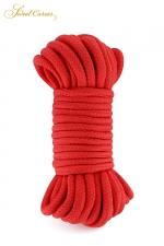 Corde de bondage rouge 10m - Sweet Caress