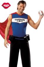 Costume Captain 6-Pack - Costume de super héros au pouvoir indispensable : servir des canettes toujours fraîches !