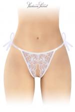 String blanc ouvert à nouer Stella - Fashion Secret