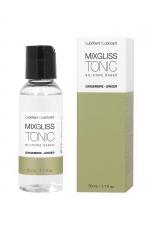 Mixgliss silicone - Gingembre 50ml : Fluide 2 en 1 massage et lubrifiant riche en silicone, parfumé au Gingembre.
