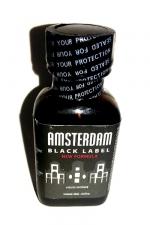 Poppers Amsterdam Black  label 24ml - Le poppers Amsterdam dans une nouvelle formule encore plus forte (à l'Isoamyl Nitrite), Black Label oblige!