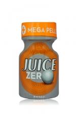 Poppers Juice zero 10 ml - Poppers hybride pour des sensations max et confort accru avec fermeture   Mega Pellet , en petit flacon de 10 ml.