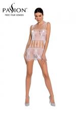 Robe nue résille BS090 - Blanc